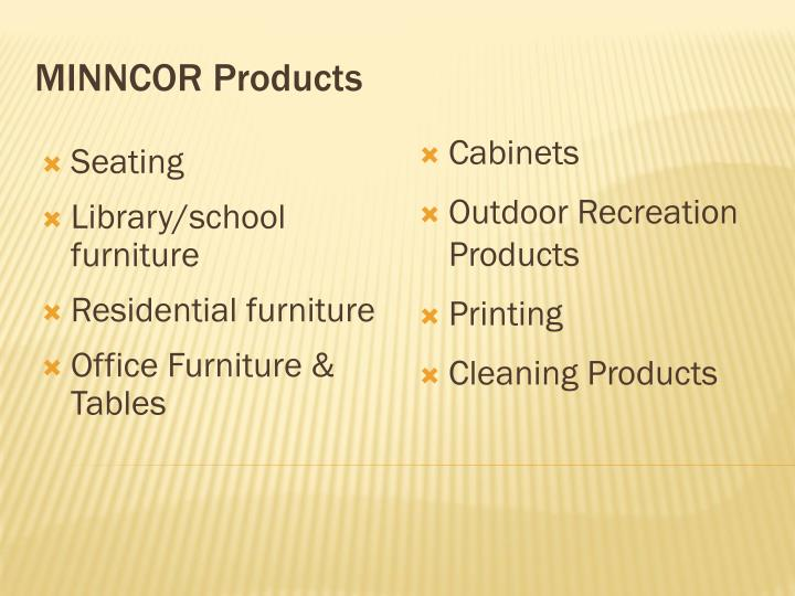 MINNCOR Products