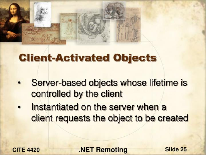 Client-Activated Objects