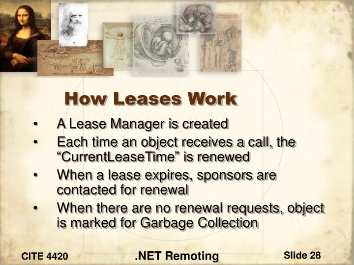 How Leases Work