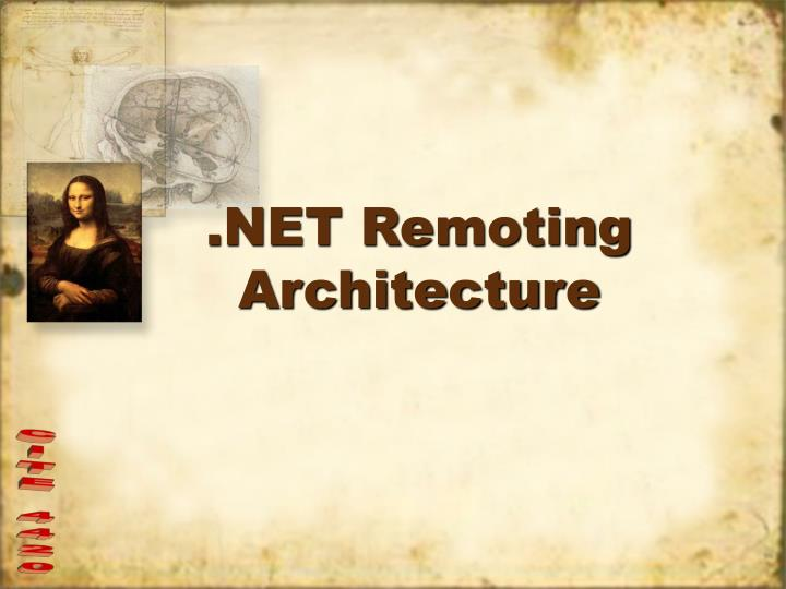 Net remoting architecture