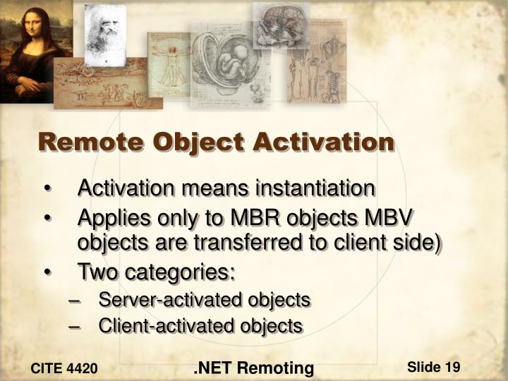 Remote Object Activation