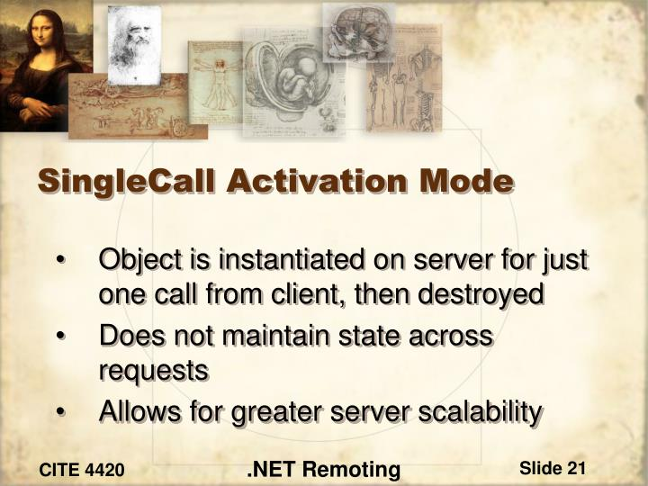 SingleCall Activation Mode
