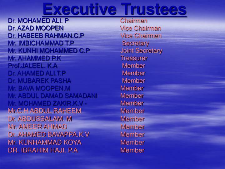 Executive Trustees