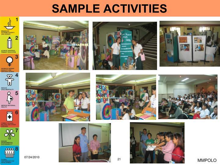SAMPLE ACTIVITIES