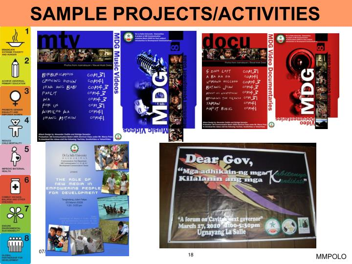 SAMPLE PROJECTS/ACTIVITIES