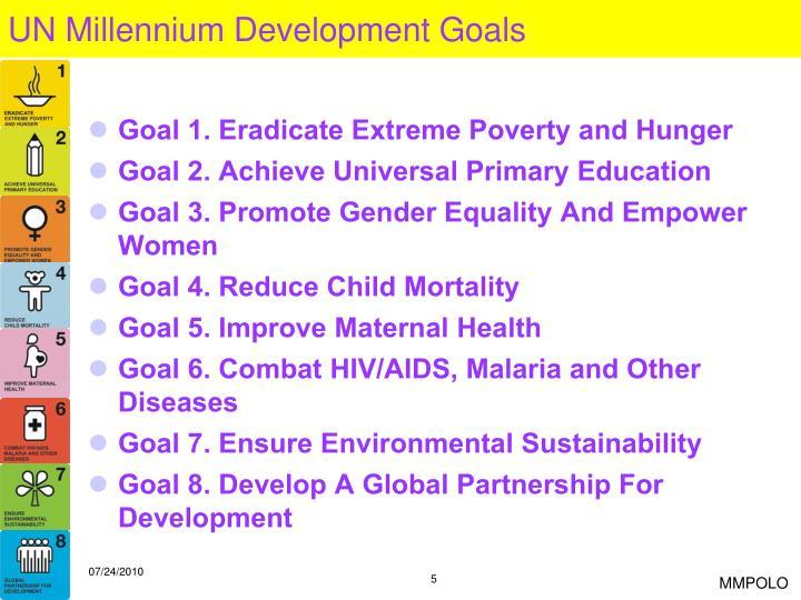 UN Millennium Development Goals