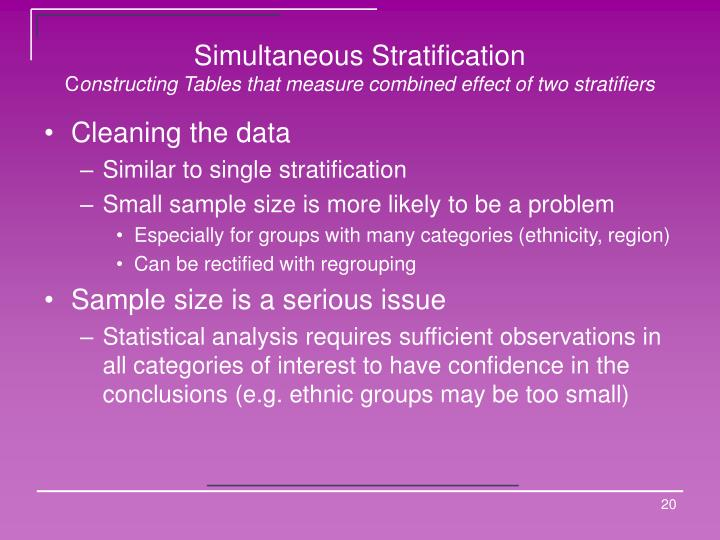 Simultaneous Stratification