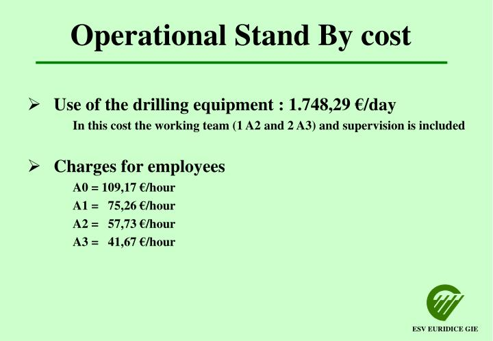 Operational Stand By cost