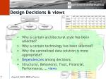 design decisions views