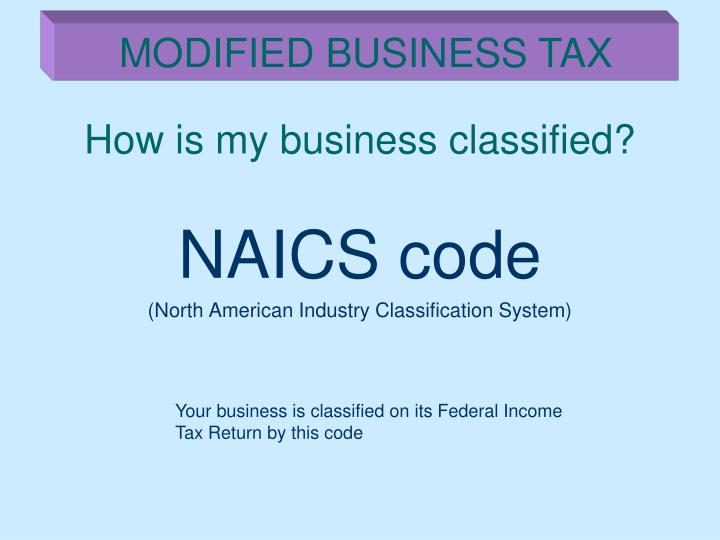 How is my business classified?