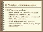 b wireless communications