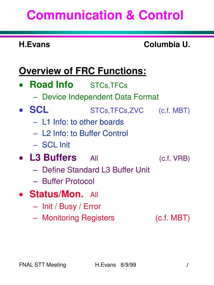 communication control n.