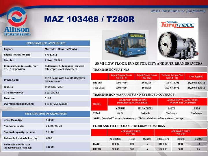 MAZ 103468 / T280R