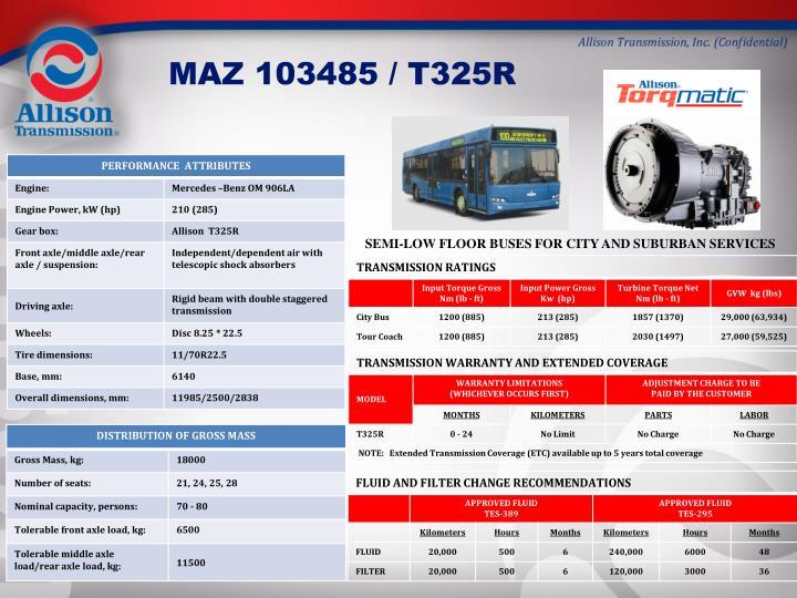 MAZ 103485 / T325R