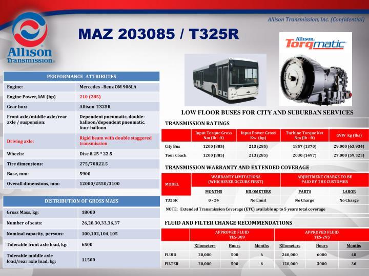 MAZ 203085 / T325R