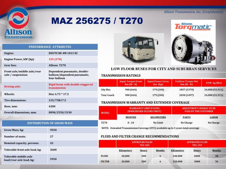 MAZ 256275 / T270