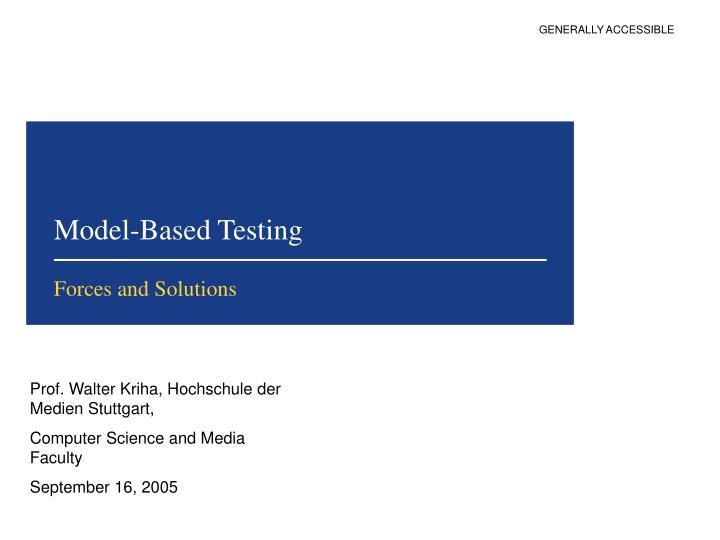 model based testing n.