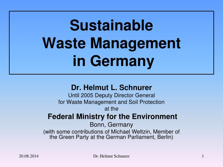 sustainable waste management in germany n.