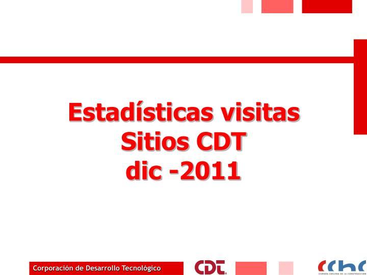 Estadísticas visitas