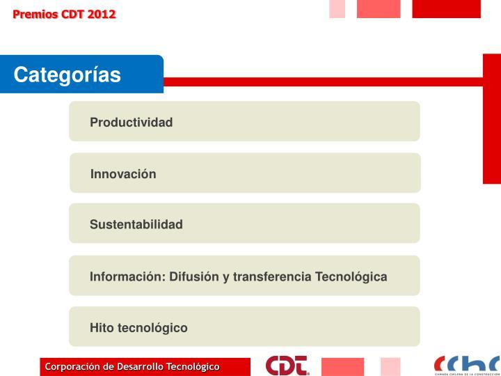 Premios cdt 20121