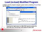 load re load modified program