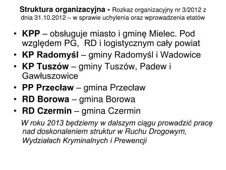 Struktura organizacyjna -