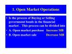1 open market operations