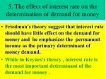 5 the effect of interest rate on the determination of demand for money