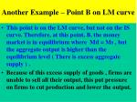 another example point b on lm curve