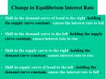 change in equilibrium interest rate