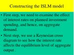 constructing the islm model