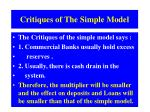 critiques of the simple model