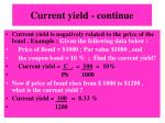 current yield continue