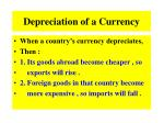 depreciation of a currency1