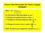 factors that determine the money supply multiplier