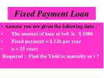 fixed payment loan