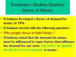 friedman s modern quantity theory of money