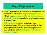 high employment