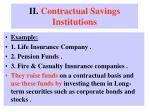 ii contractual savings institutions