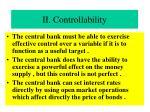 ii controllability