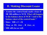 ii making discount loans