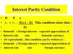 interest parity condition1