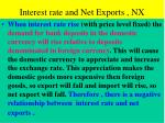 interest rate and net exports nx
