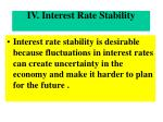 iv interest rate stability
