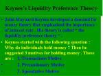 keynes s liquidity preference theory
