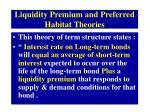 liquidity premium and preferred habitat theories