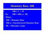 monetary base mb