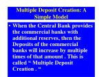 multiple deposit creation a simple model