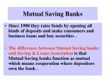mutual saving banks