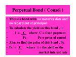 perpetual bond consol